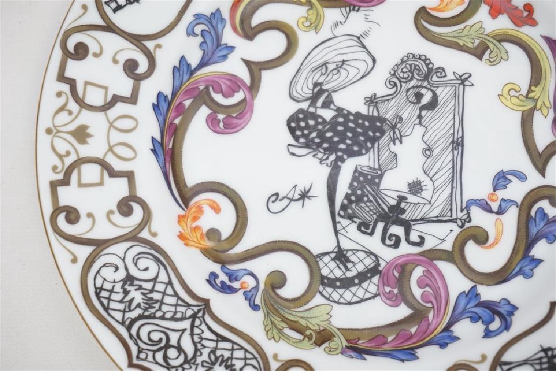 4 CHRISTIAN LACROIX ART DE LA TABLE SOUVENIR PLATES - 6