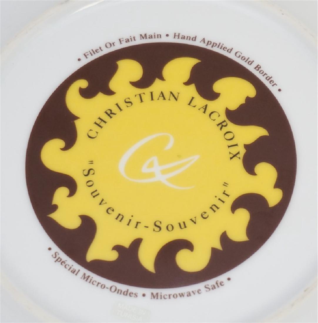 4 CHRISTIAN LACROIX ART DE LA TABLE SOUVENIR PLATES - 8