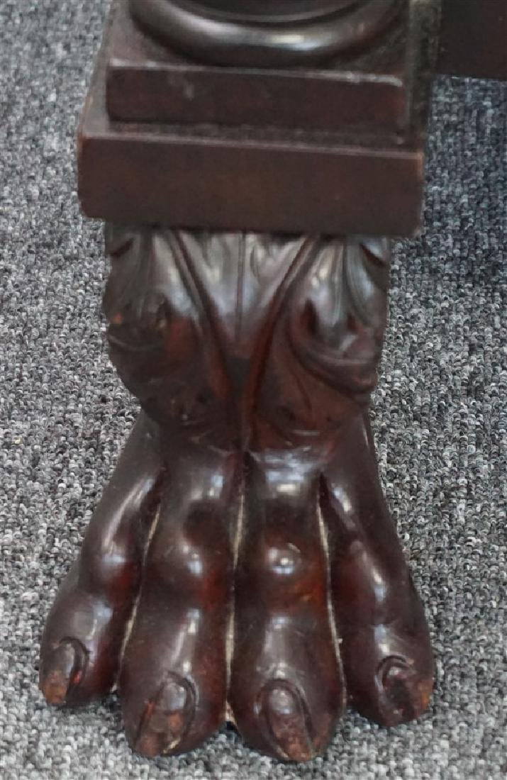AMERICAN EMPIRE MAHOGANY PAW FOOT - 5