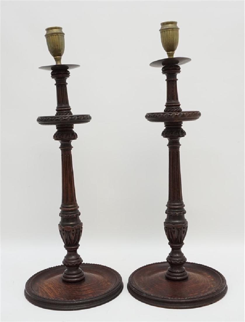 c. 1890 TURNED BARLEY TWIST CANDLESTICKS
