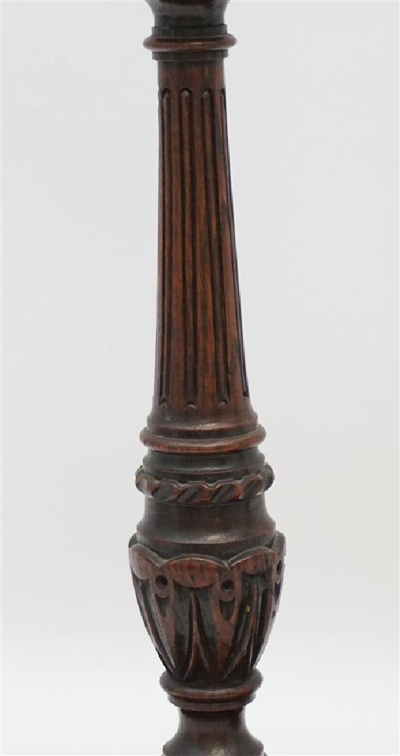 c. 1890 TURNED BARLEY TWIST CANDLESTICKS - 3