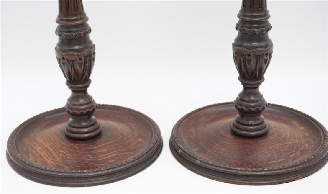 c. 1890 TURNED BARLEY TWIST CANDLESTICKS - 4