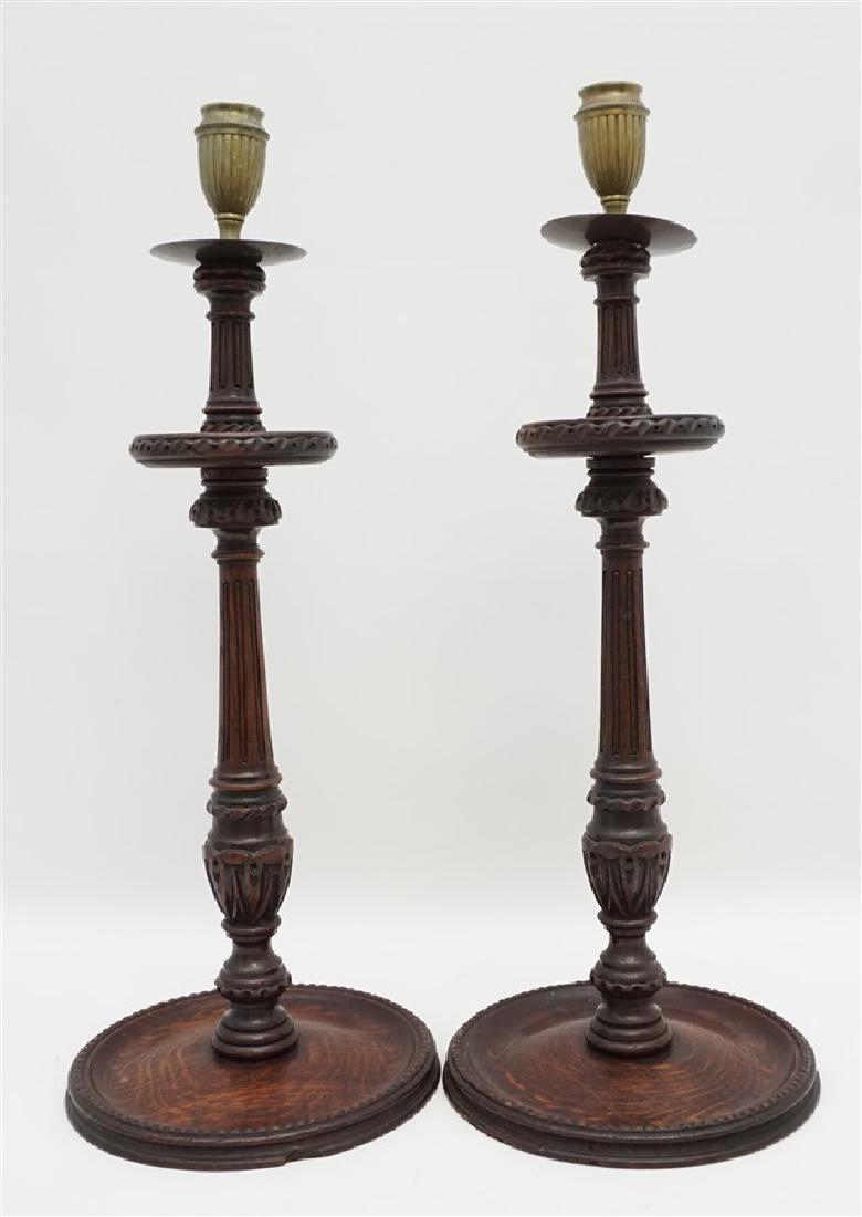 c. 1890 TURNED BARLEY TWIST CANDLESTICKS - 7