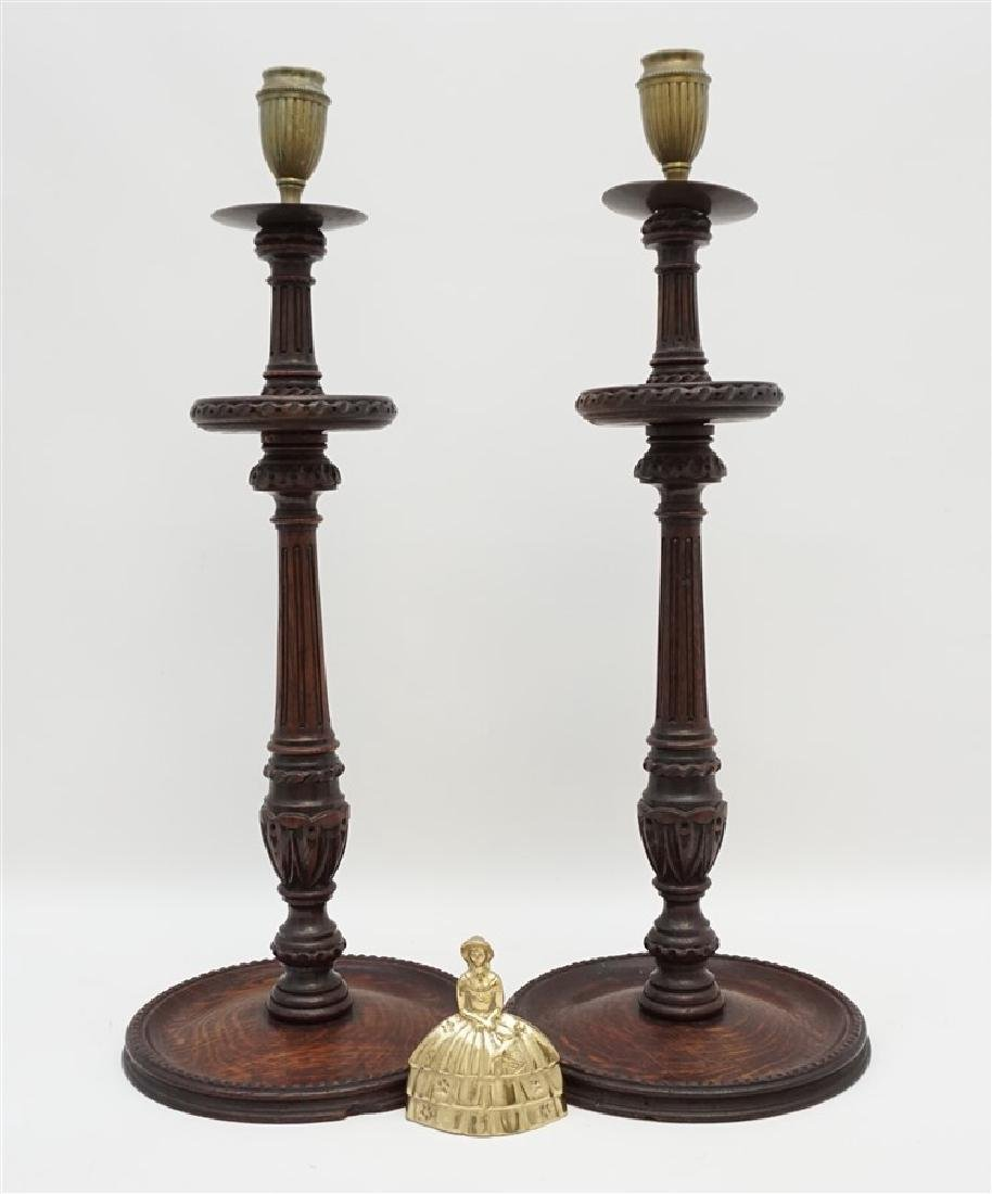 c. 1890 TURNED BARLEY TWIST CANDLESTICKS - 8
