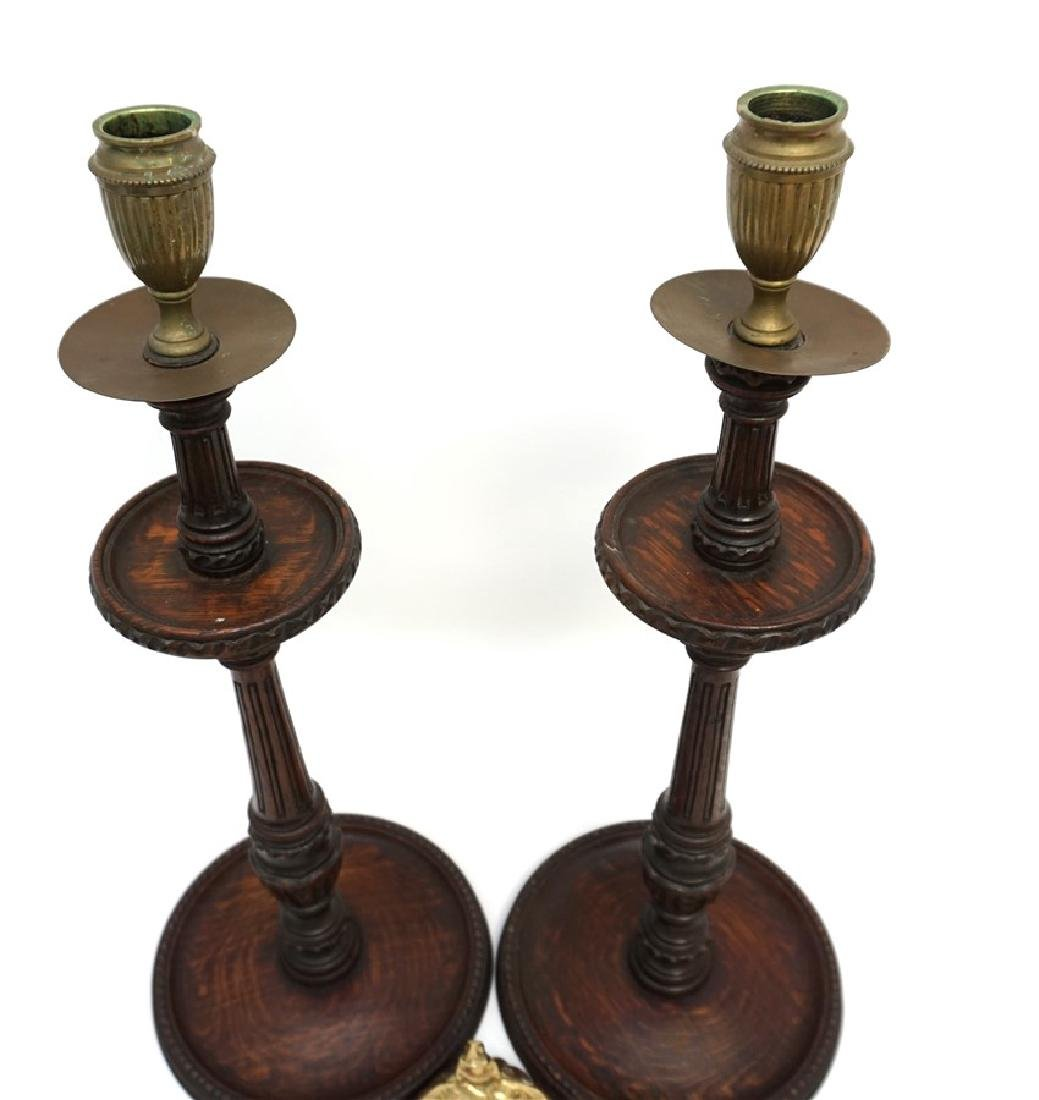 c. 1890 TURNED BARLEY TWIST CANDLESTICKS - 9