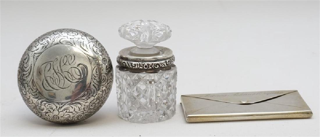 3 PC ANTIQUE STERLING SCENT - CARD +