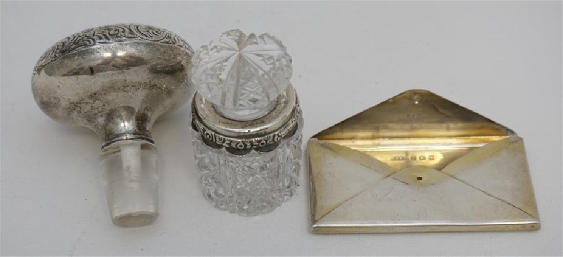 3 PC ANTIQUE STERLING SCENT - CARD + - 5
