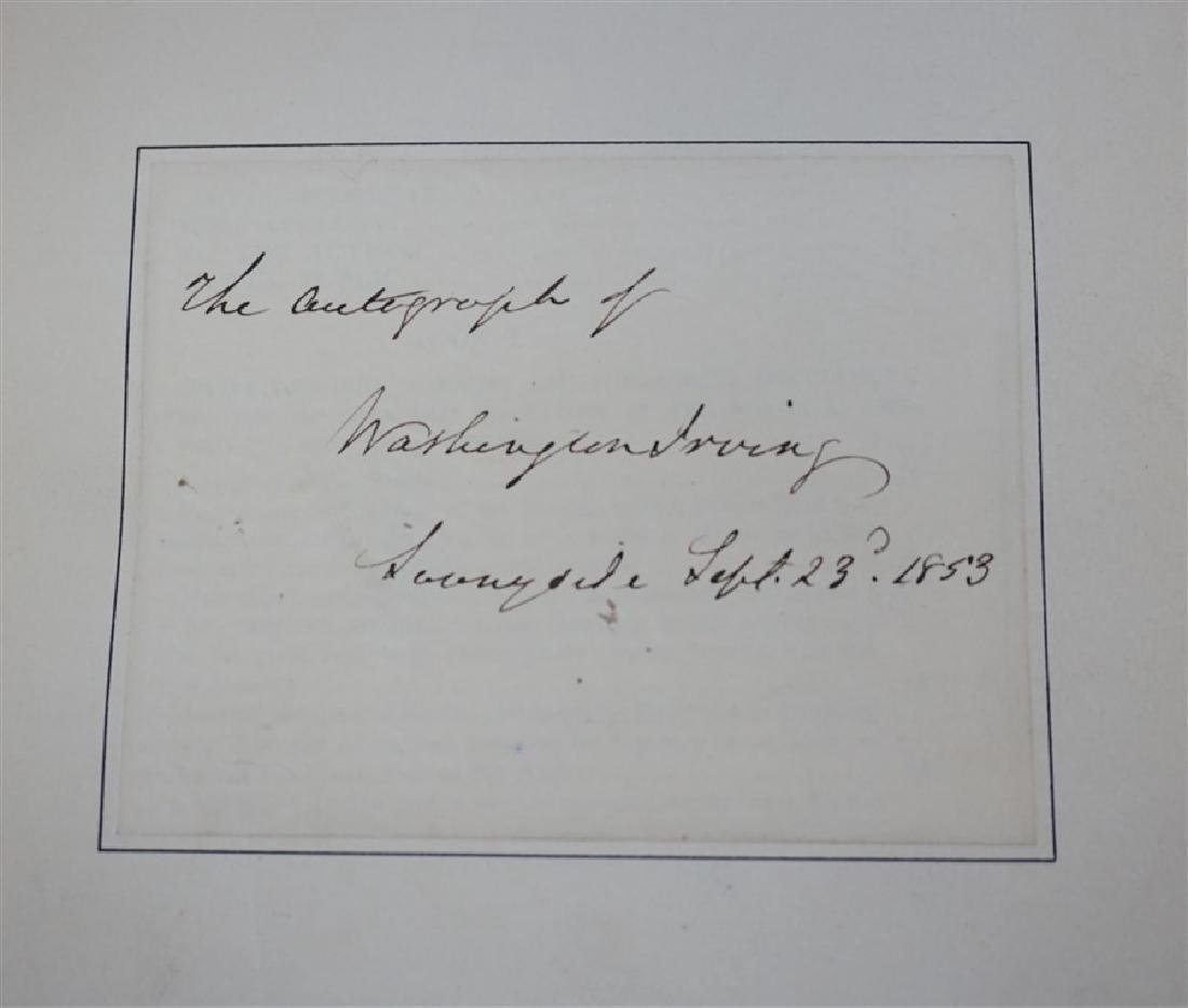 RARE WASHINGTON IRVING AUTOGRAPHED BOOK - 7