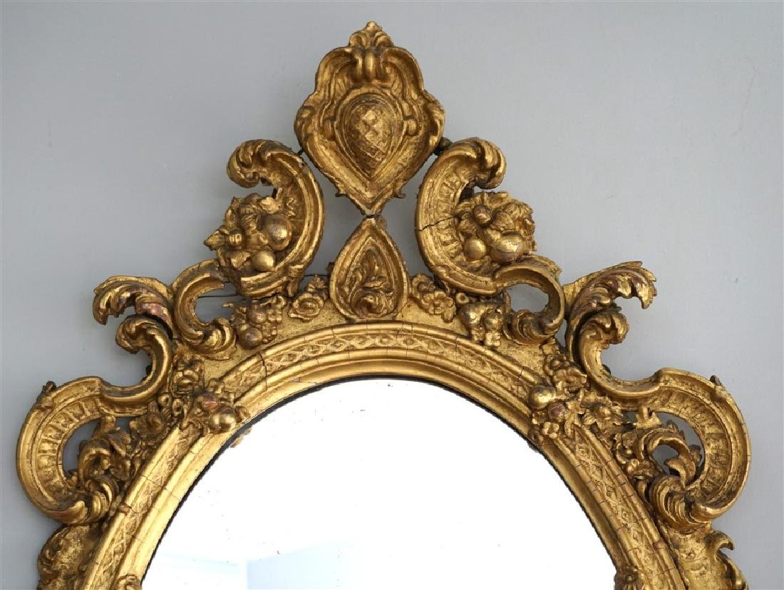 19TH C. ORNATE GIRANDOLE MIRROR - 3