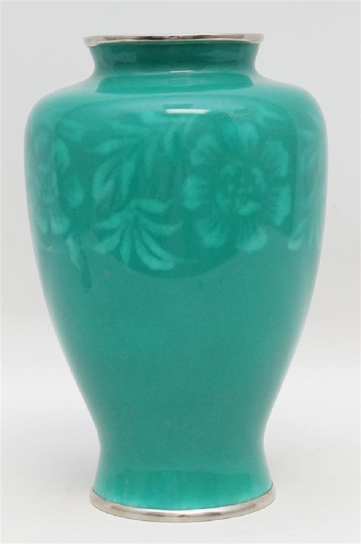 JAPANESE SILVER ANDO CLOISONNE VASE
