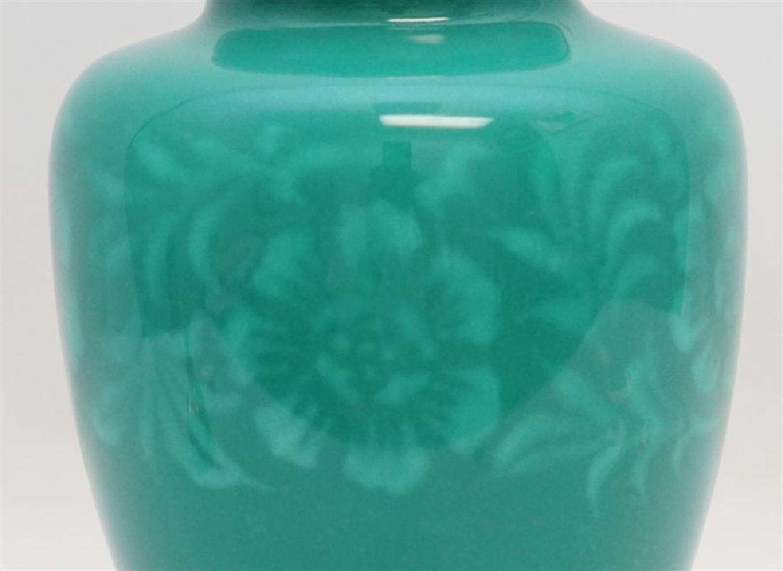 JAPANESE SILVER ANDO CLOISONNE VASE - 7