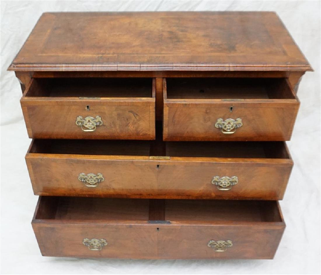 ENGLISH CHIPPENDALE WALNUT CHEST - 3