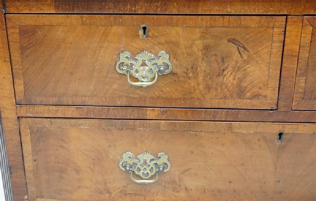 ENGLISH CHIPPENDALE WALNUT CHEST - 4