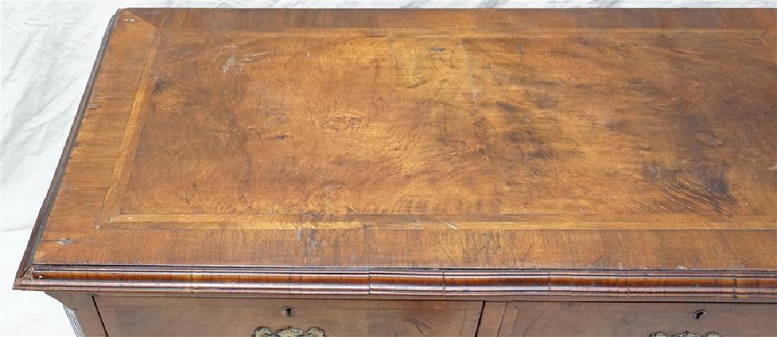 ENGLISH CHIPPENDALE WALNUT CHEST - 5