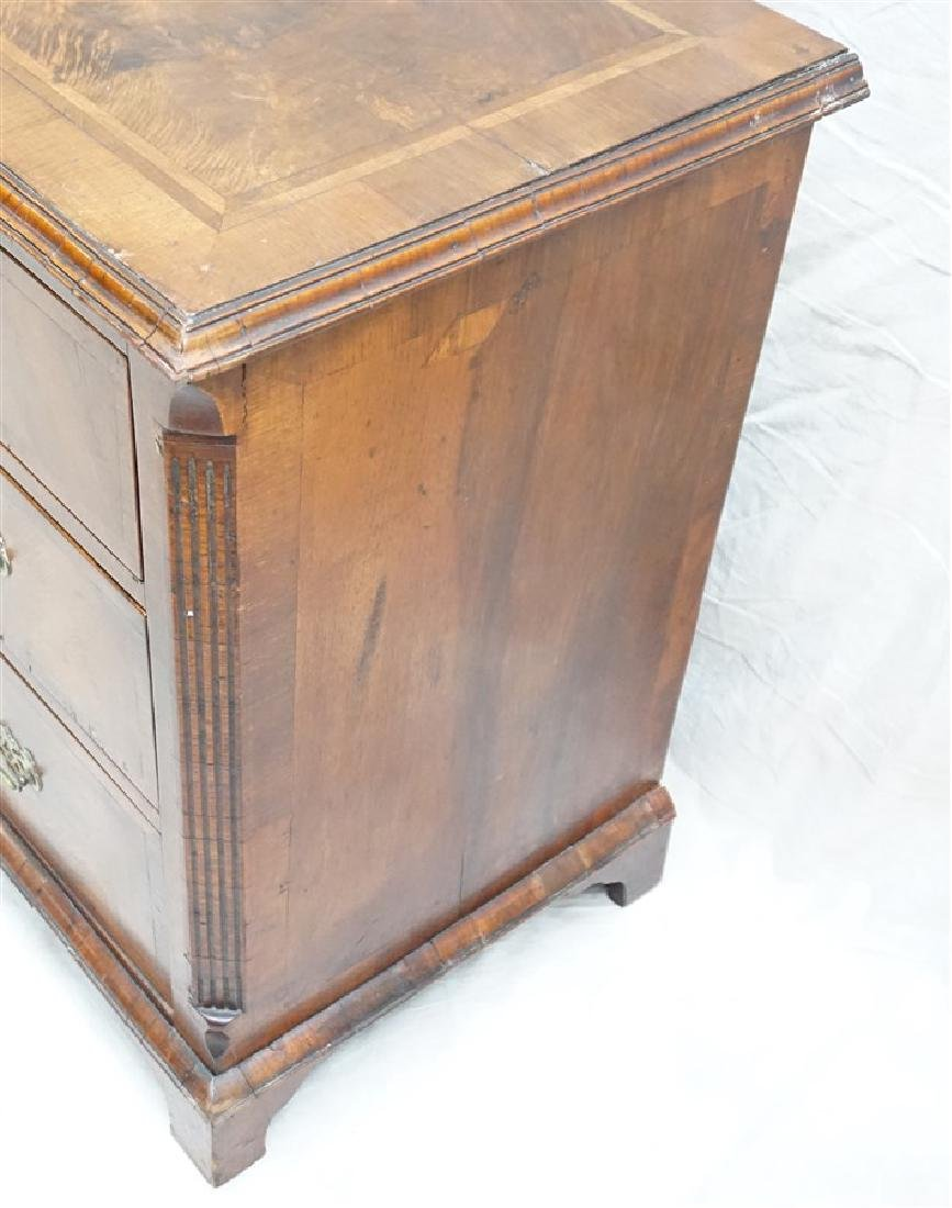 ENGLISH CHIPPENDALE WALNUT CHEST - 8