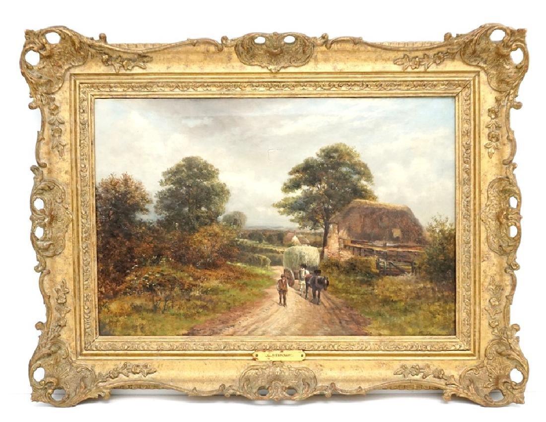 CARL BRENNIR (1850-1920) LANDSCAPE OIL