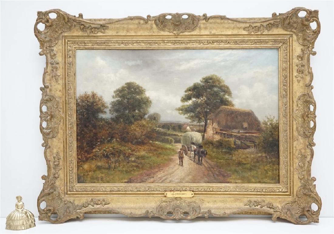 CARL BRENNIR (1850-1920) LANDSCAPE OIL - 9