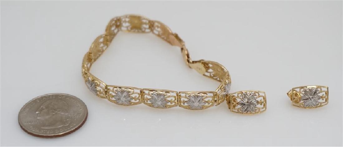 14KT GOLD BRACELET/EARRING SET (7.50 GRAMS) - 5