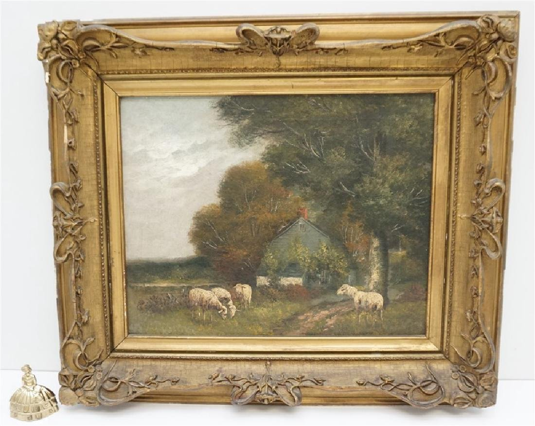 19th c. ENGLISH COUNTRY SHEEP & COTTAGE - 10