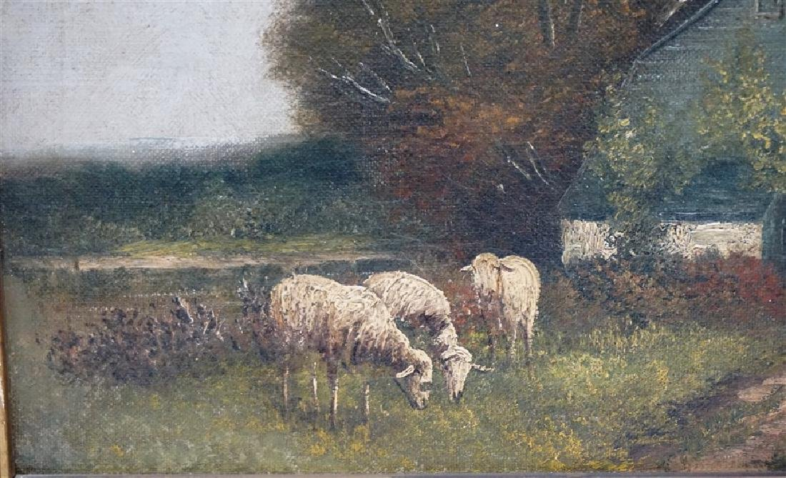 19th c. ENGLISH COUNTRY SHEEP & COTTAGE - 3
