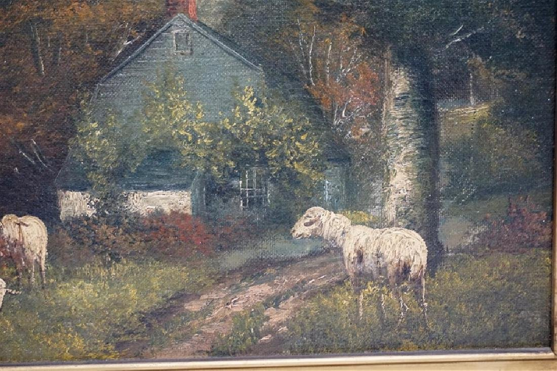 19th c. ENGLISH COUNTRY SHEEP & COTTAGE - 4