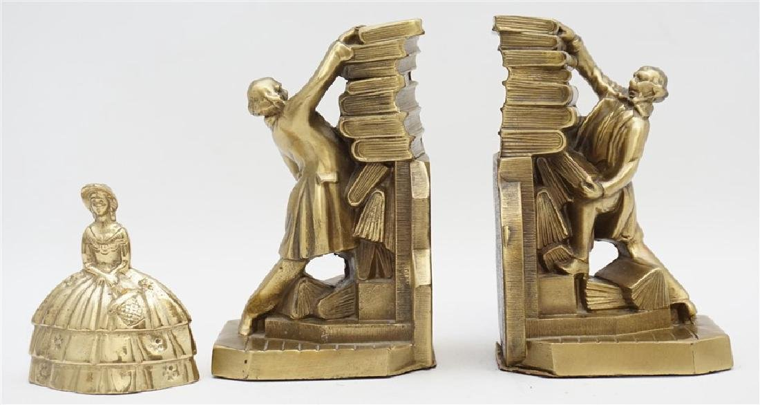 PM CRAFTSMAN LIBRARIAN BRASS BOOKENDS - 7