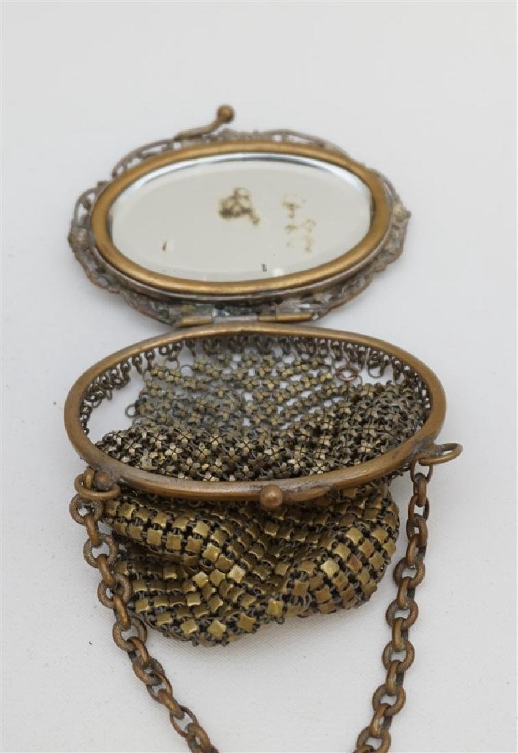 2 pc ANTIQUE FILIGREE PURSE & PORTRAIT - 5