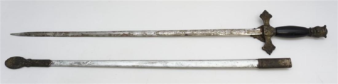 KNIGHTS OF COLUMBUS CEREMONIAL SWORD - 7