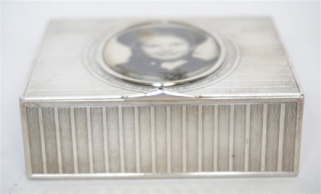 EDWARDIAN FRENCH SILVER DRESSER BOX - 3