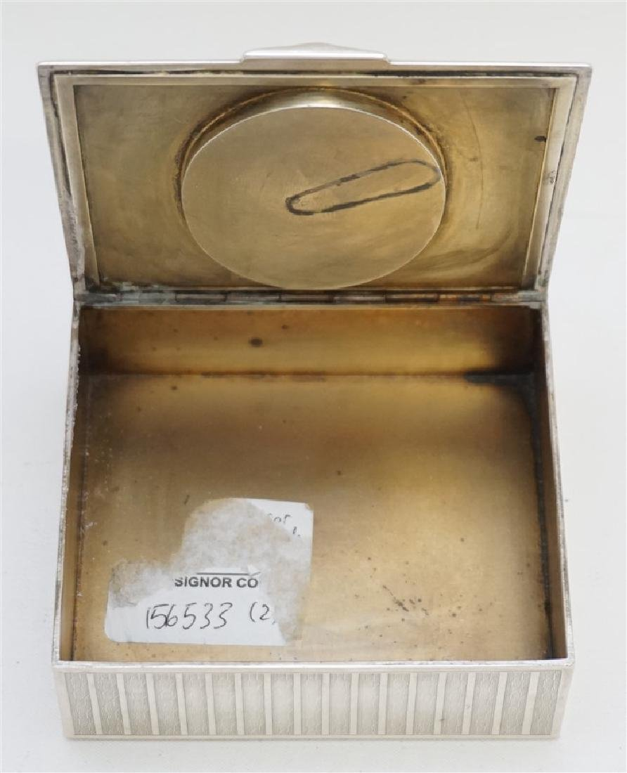 EDWARDIAN FRENCH SILVER DRESSER BOX - 6
