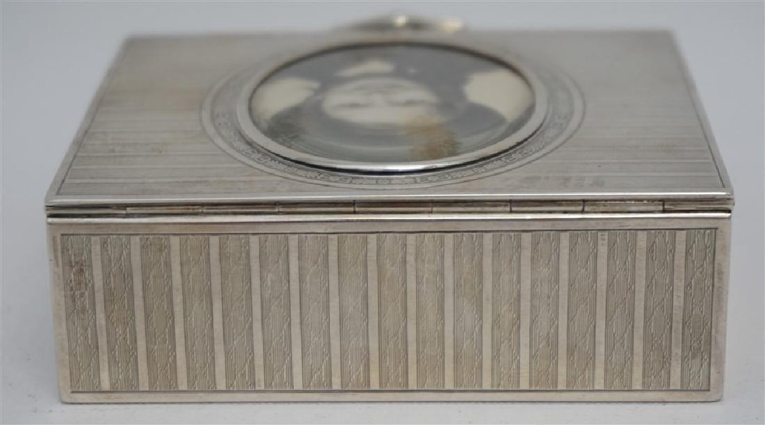 EDWARDIAN FRENCH SILVER DRESSER BOX - 8