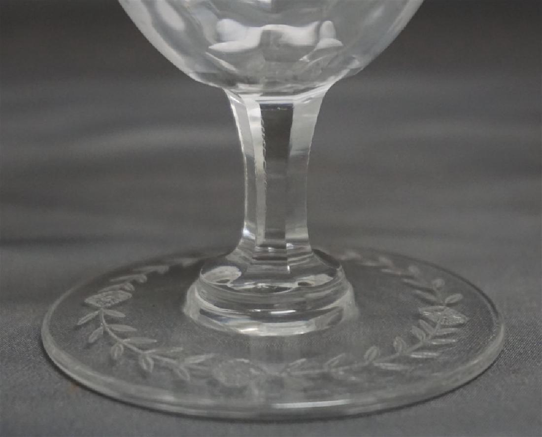 12 pc VINTAGE ELEGANT ETCHED PANELED GLASS - 9