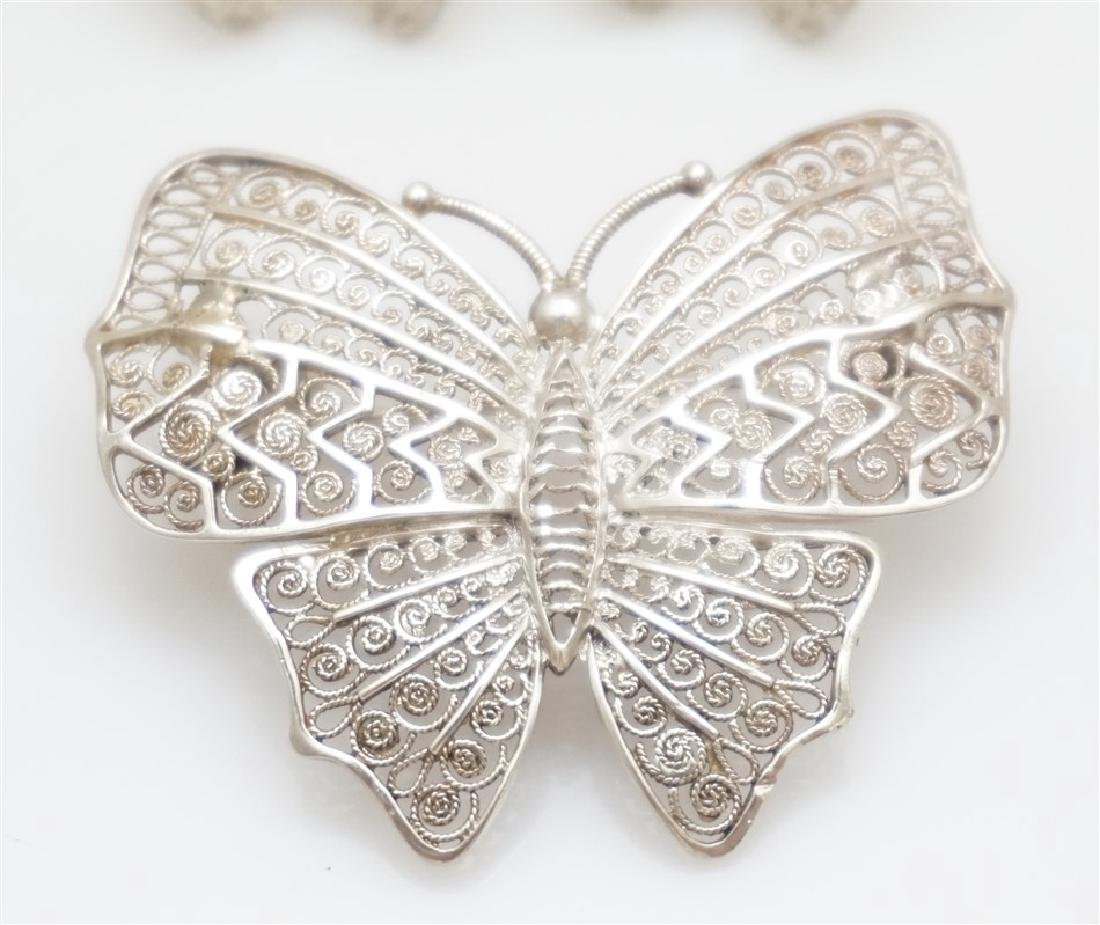 3 PC ALICE CAVINESS STERLING BUTTERFLIES - 2