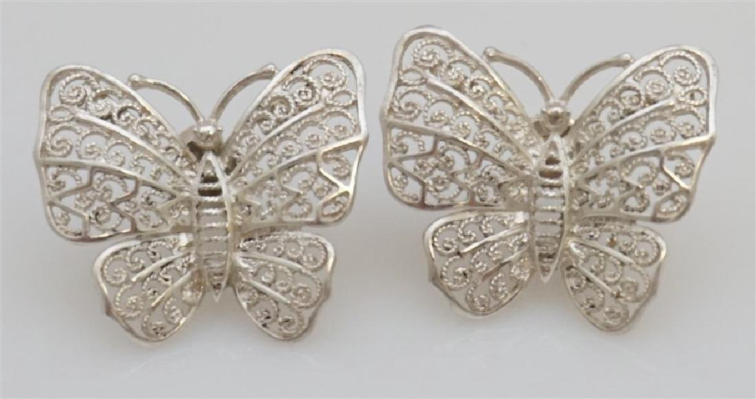 3 PC ALICE CAVINESS STERLING BUTTERFLIES - 3