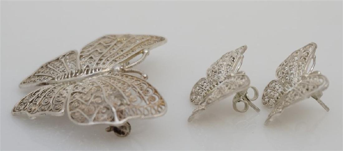 3 PC ALICE CAVINESS STERLING BUTTERFLIES - 4