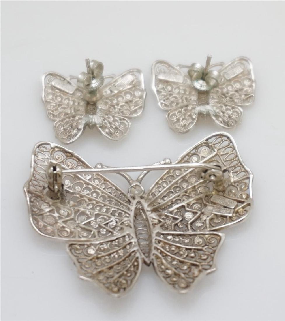 3 PC ALICE CAVINESS STERLING BUTTERFLIES - 5