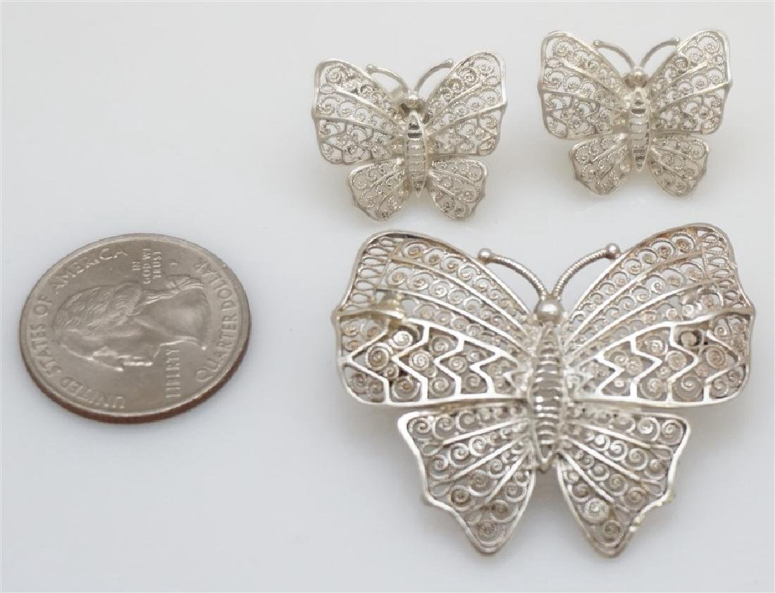 3 PC ALICE CAVINESS STERLING BUTTERFLIES - 6