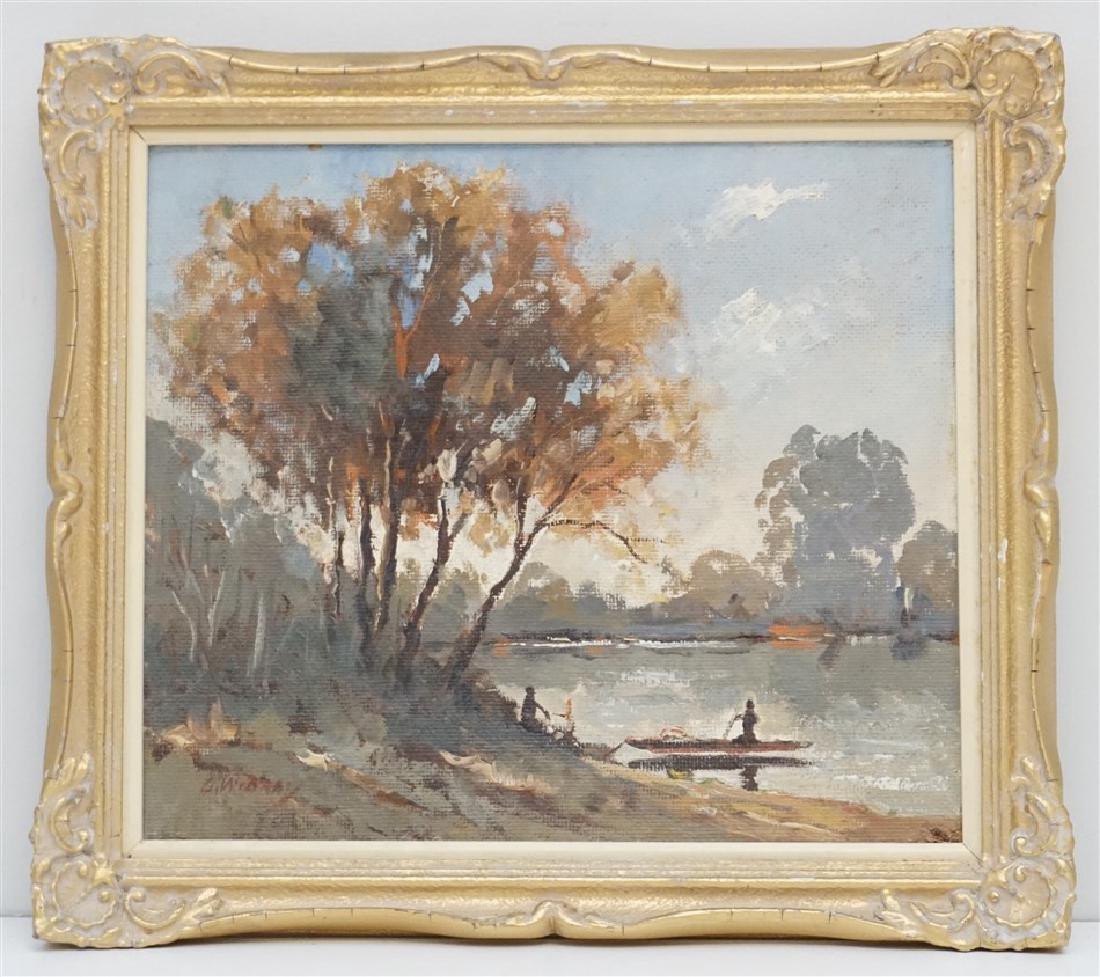 VINTAGE LAKE LANDSCAPE G. WIBRAY