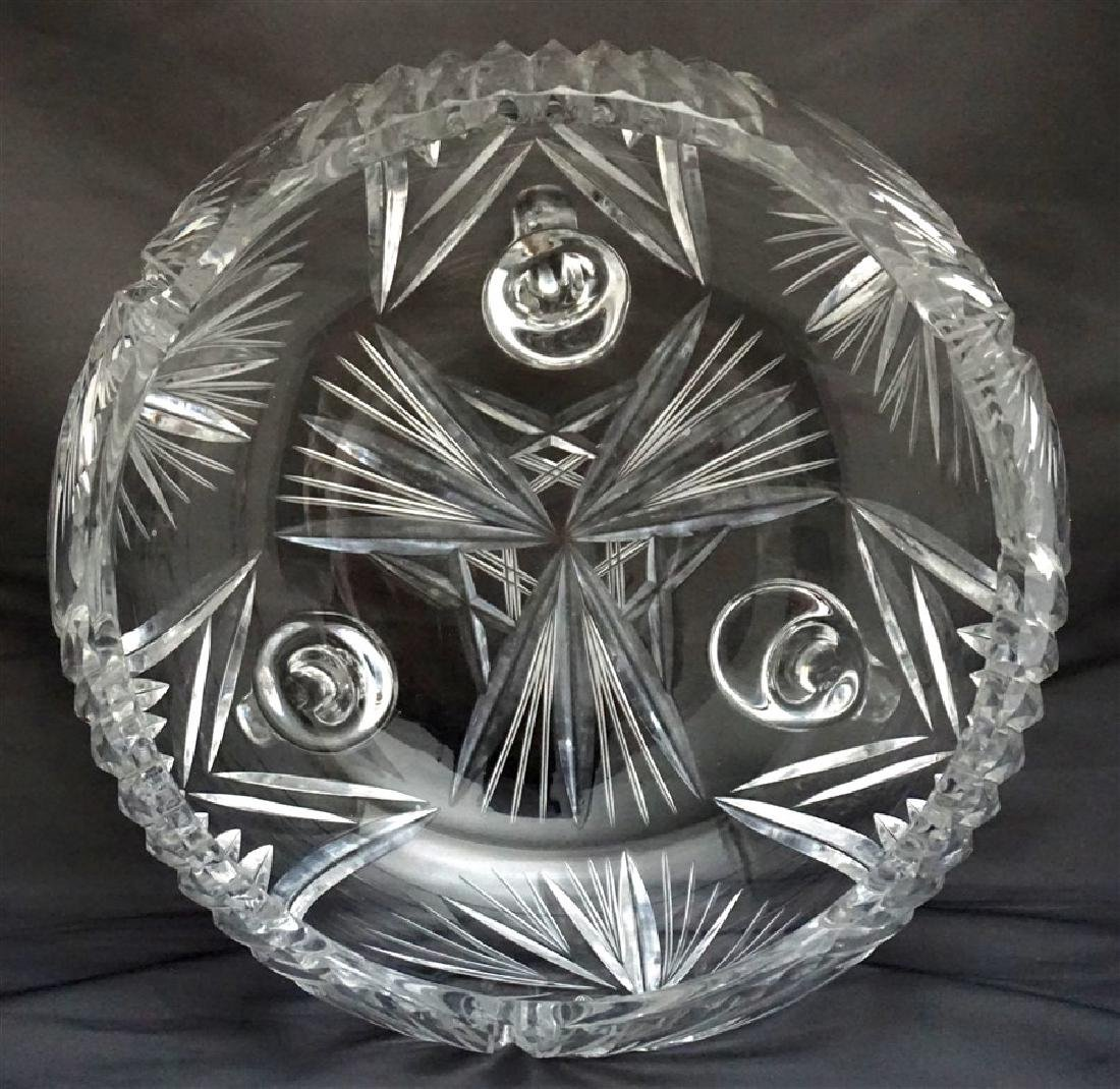 CUT CRYSTAL FOOTED CENTER BOWL - 6