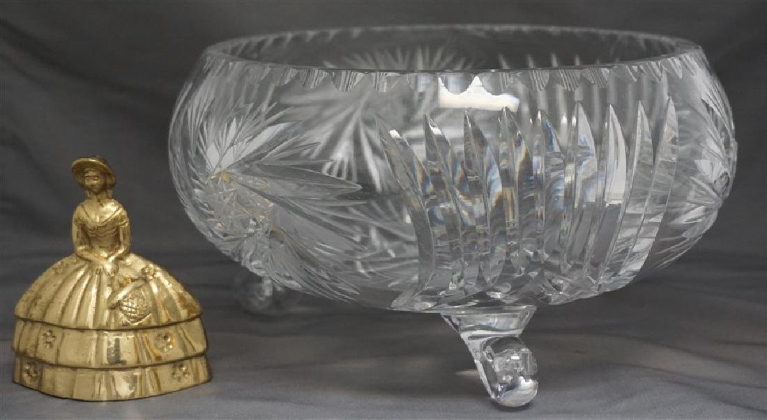 CUT CRYSTAL FOOTED CENTER BOWL - 7