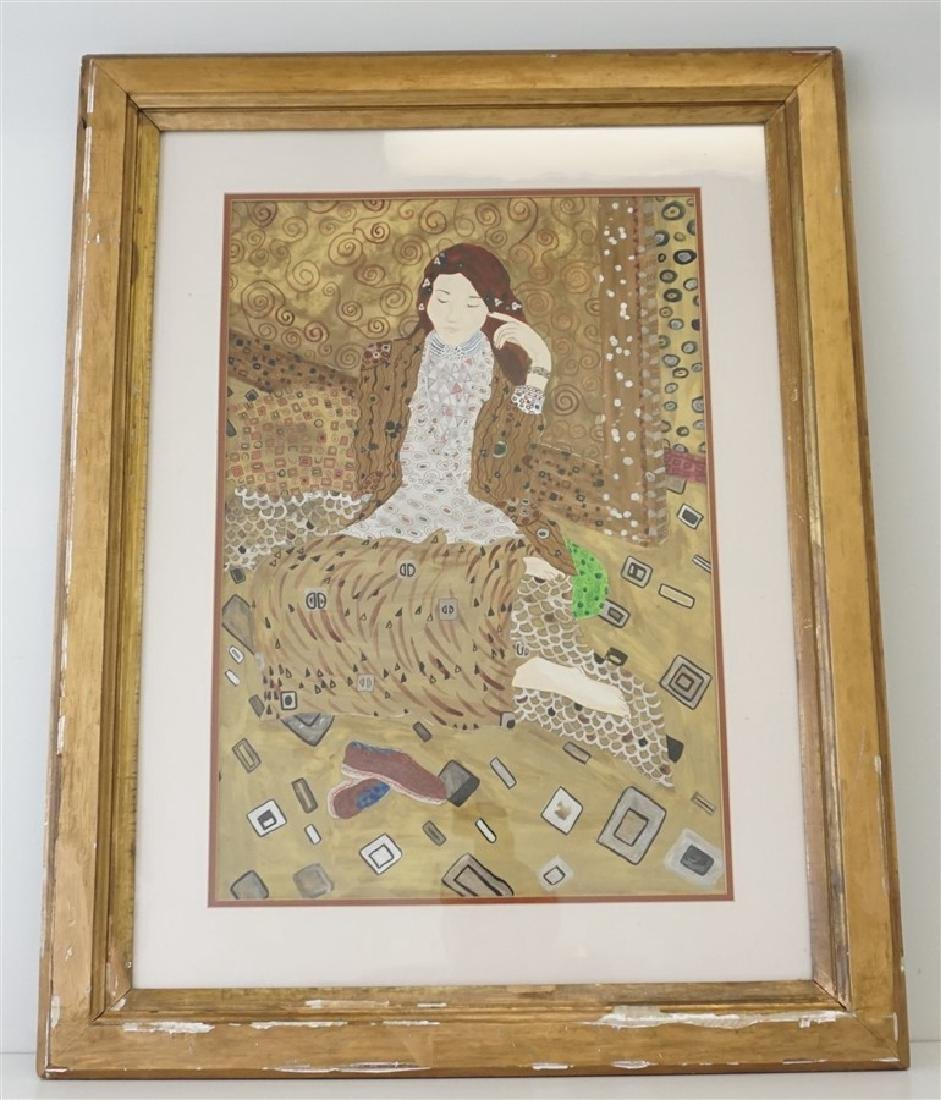 LARGE MIXED MEDIA PAINTING AFTER KLIMT - 2