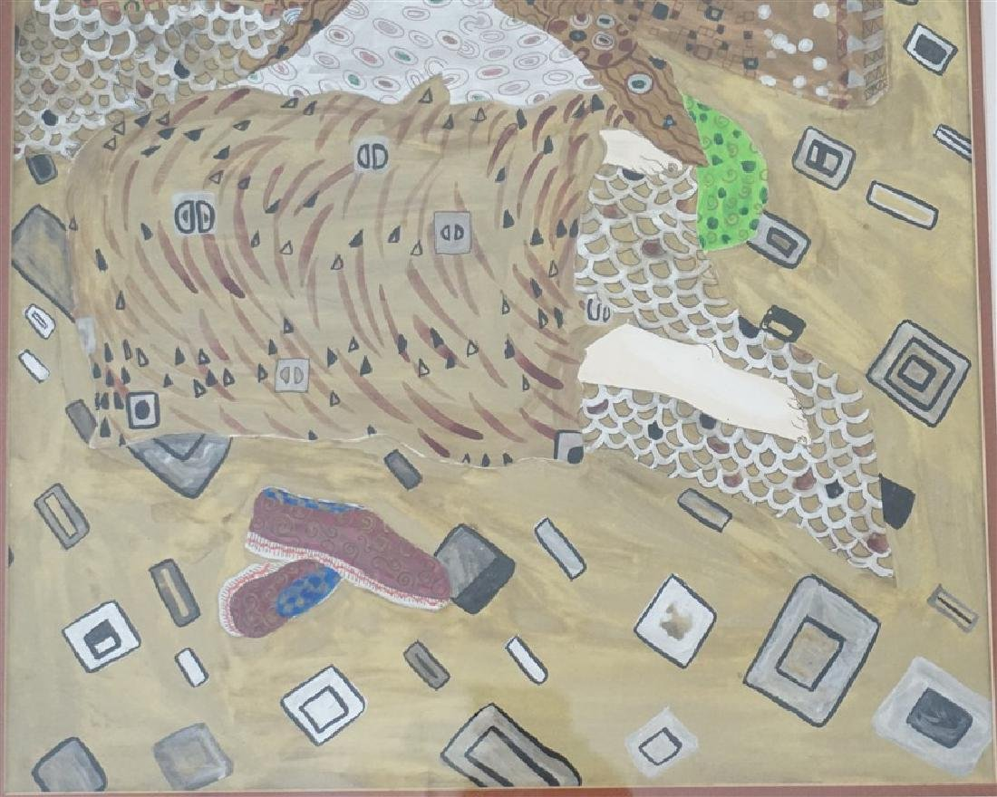 LARGE MIXED MEDIA PAINTING AFTER KLIMT - 4