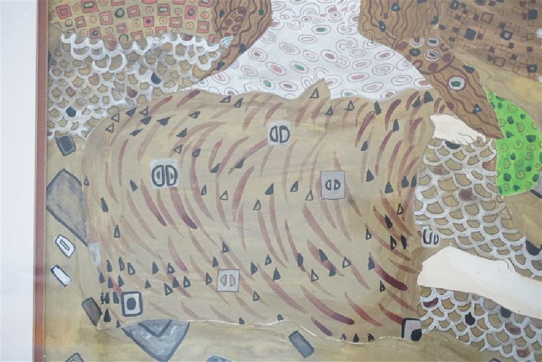 LARGE MIXED MEDIA PAINTING AFTER KLIMT - 5