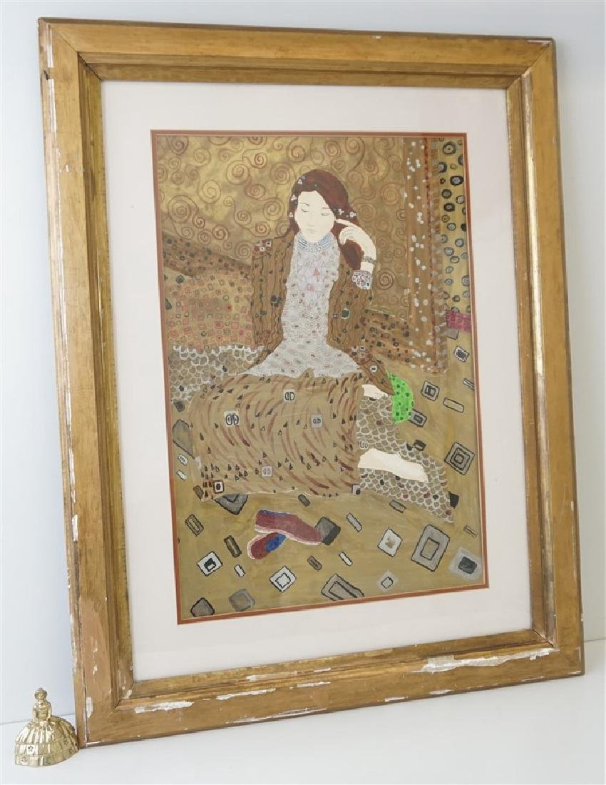 LARGE MIXED MEDIA PAINTING AFTER KLIMT - 8