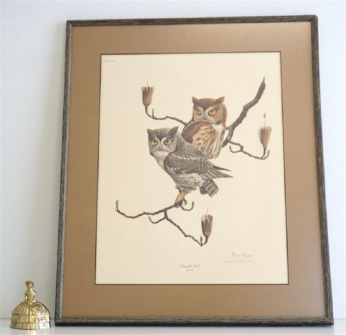 RAY HARM SCREECH OWL SIGNED LITHO - 6
