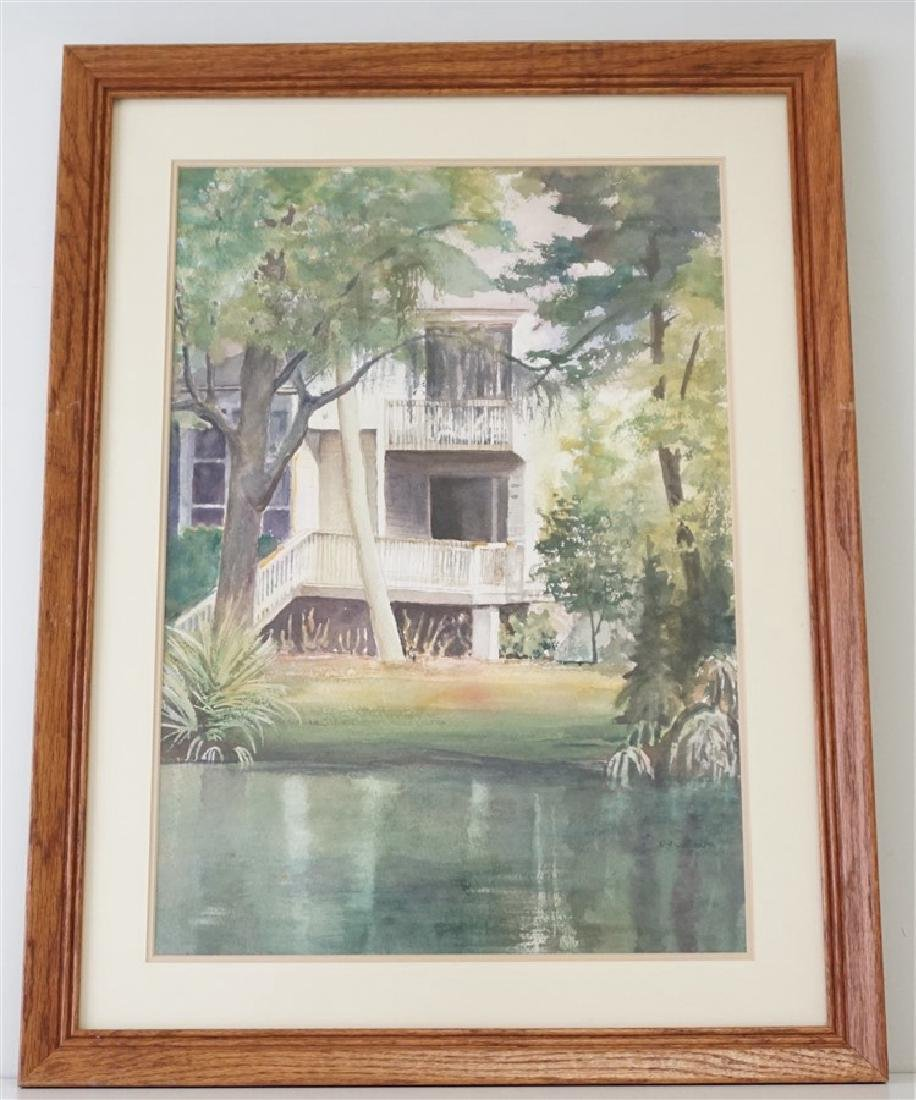 SOUTHERN RETREAT WATERCOLOR CHRIS ARDELEAN