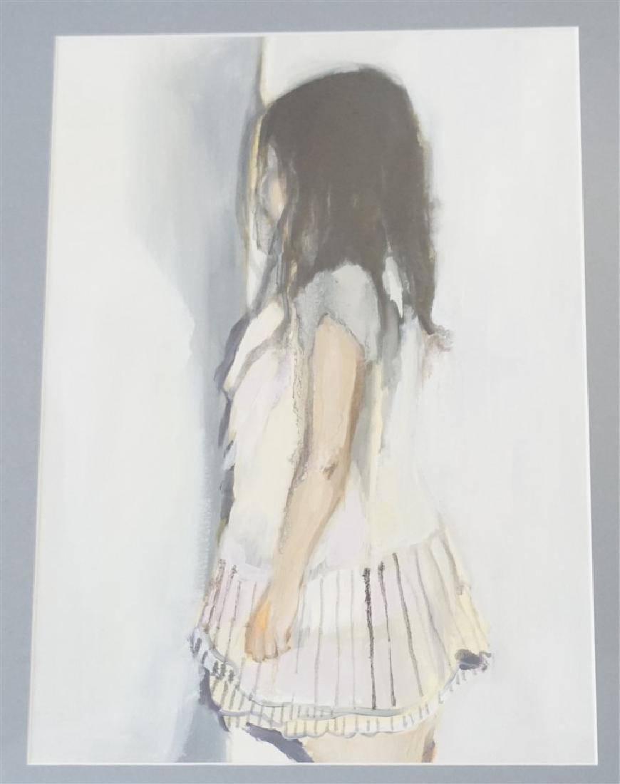 ORIGINAL WATERCOLOR GOUACHE YOUNG GIRL - 2
