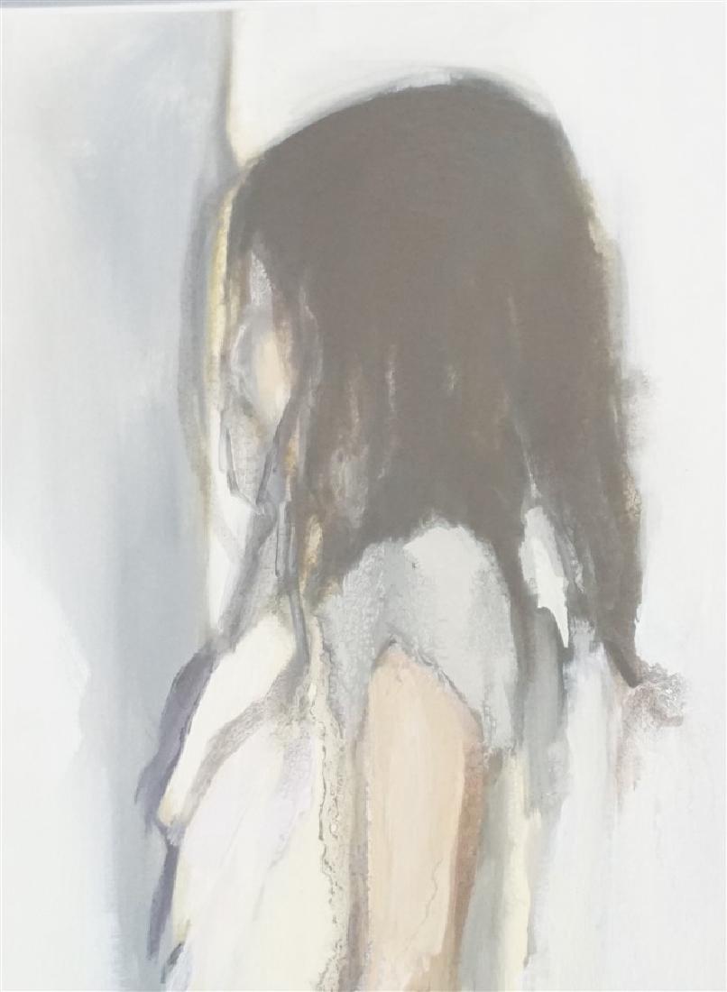 ORIGINAL WATERCOLOR GOUACHE YOUNG GIRL - 4
