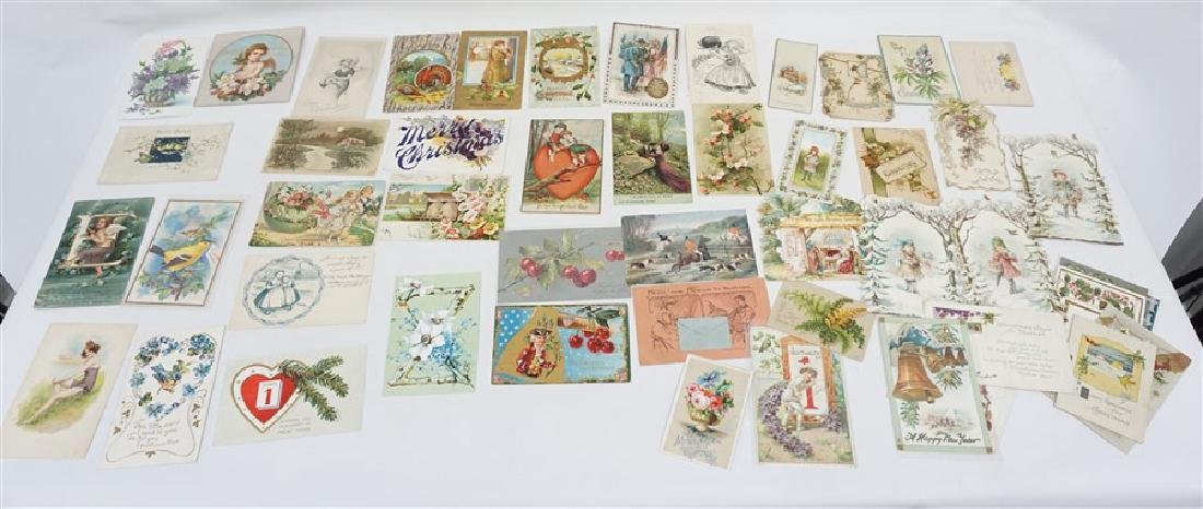 50 VICTORIAN POSTCARDS / CARDS HOLIDAYS