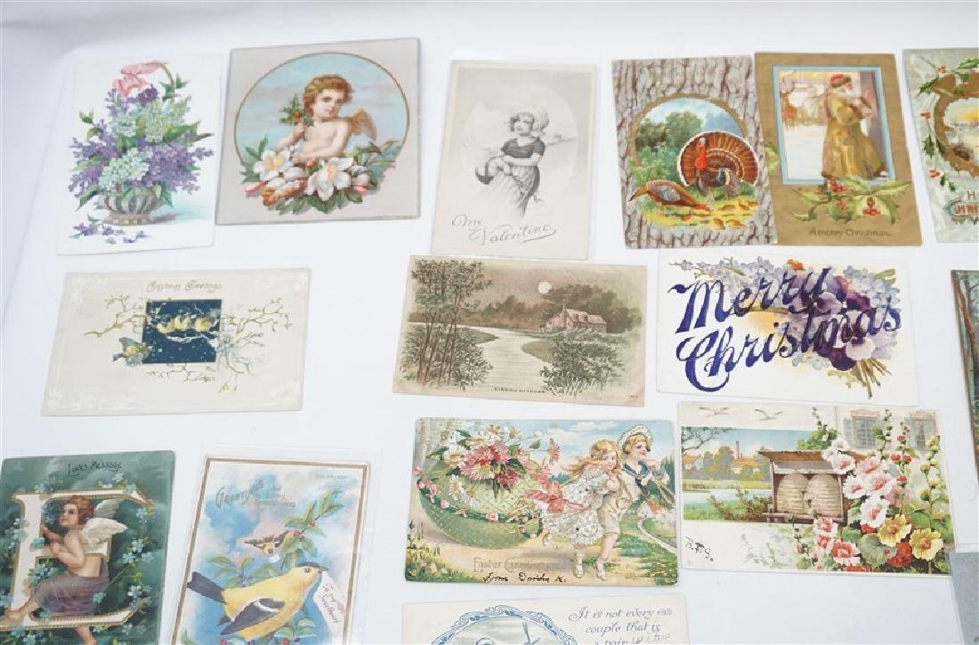 50 VICTORIAN POSTCARDS / CARDS HOLIDAYS - 2